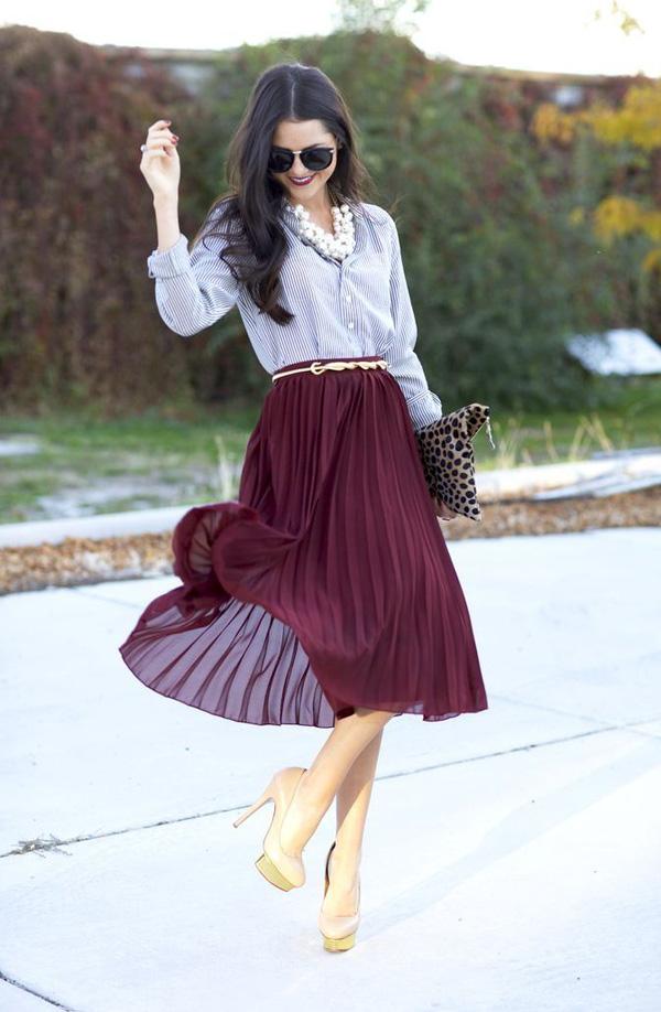 Chân váy midi dáng xòe - muốn mặc đẹp không hề khó! - Ảnh 3.