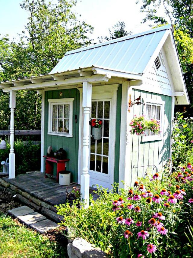 Những ngôi nhà nhỏ trong vườn khiến bạn như được lạc vào thế giới cổ tích - Ảnh 4.