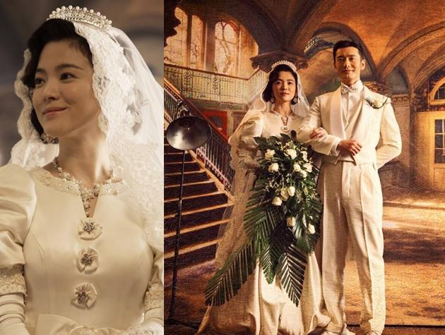 Nhìn lại 4 lần khoác lên mình bộ váy cưới và dự đoán chiếc váy mà Song Hye Kyo sẽ chọn mặc ngày 31 này  - Ảnh 4.
