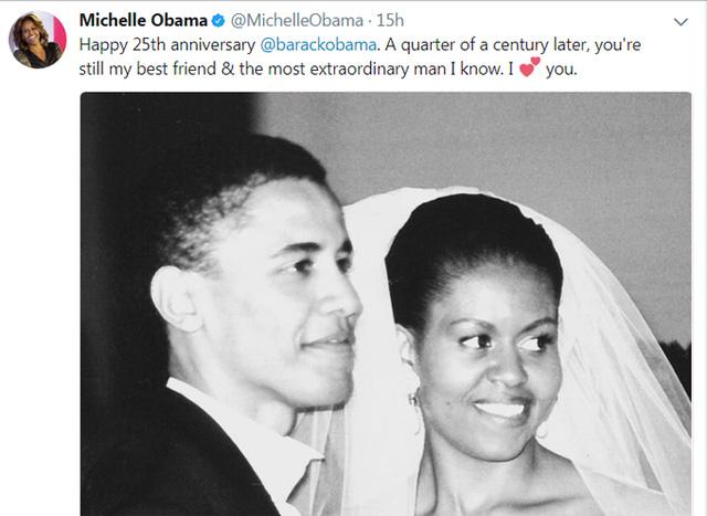 Lấy em là điều đúng đắn nhất trong cuộc đời anh lời chia sẻ lịm tim Obama dành cho vợ sau 25 năm kết hôn - Ảnh 3.