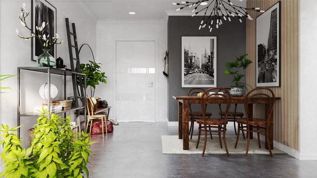 Chỉ sử dụng 2 màu trắng - xám nhưng căn hộ này chất đến độ chẳng chê được điểm nào - Ảnh 5.