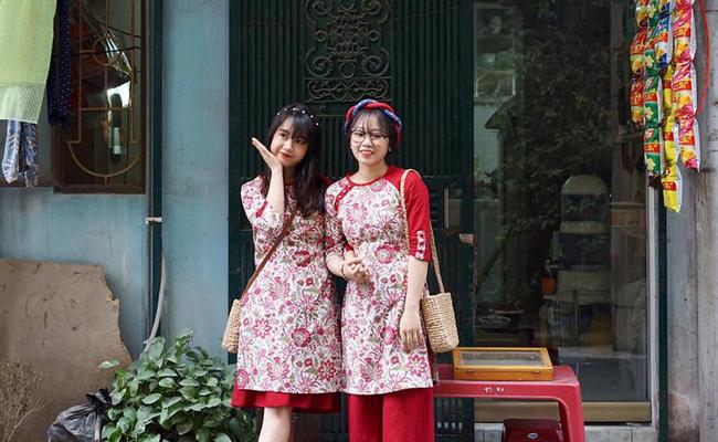 5 tiệm áo dài cách tân cực chất, giá dưới 1 triệu để đẹp cả Tết ở Hà Nội - Ảnh 7.