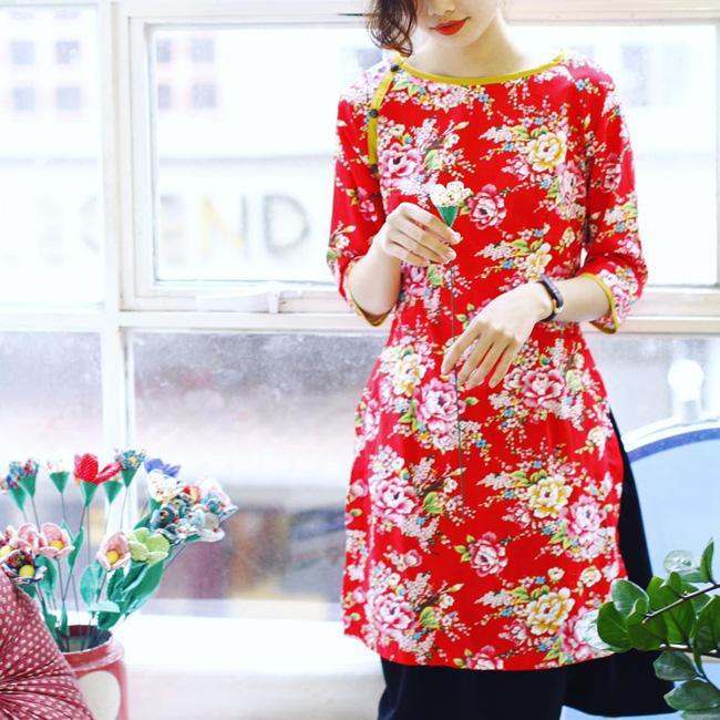 5 tiệm áo dài cách tân cực chất, giá dưới 1 triệu để đẹp cả Tết ở Hà Nội - Ảnh 6.