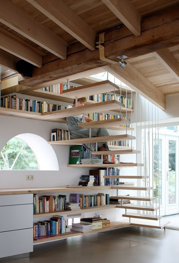 20 thiết kế giá sách kết hợp với cầu thang vô cùng đẹp mắt - Ảnh 2.