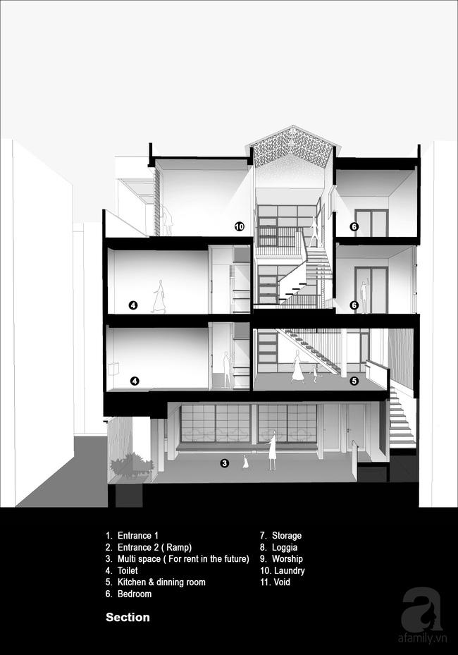 Ngôi nhà 60m² trong ngõ ở Giang Văn Minh: Từ cứ mưa to là ngập nay đẹp miễn chê, tầng nào cũng lung linh nắng - Ảnh 20.