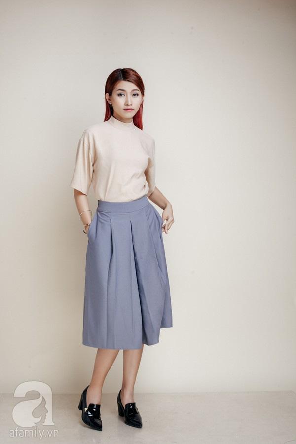 Diện quần dài vào mủa nắng nóng sẽ không còn là nỗi ám ảnh nhờ những mẫu quần jeans, quần vải này - Ảnh 7.
