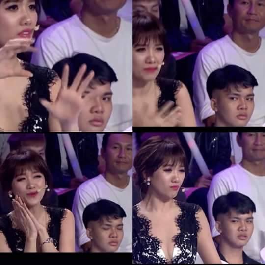 Chàng trai bất ngờ nổi tiếng sau 1 đêm với biểu cảm liếc xéo Hari Won trên sóng truyền hình - Ảnh 3.