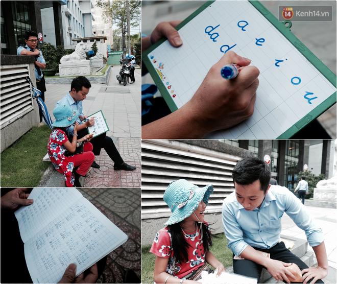 Anh nhân viên ngân hàng dành giờ nghỉ trưa mỗi ngày để dạy chữ cho cô bé vé số ngay trên vỉa hè Sài Gòn 1