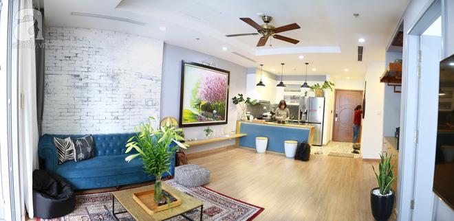 Chỉ với 300 triệu đồng, vợ chồng 8x đã biến căn hộ 76m² thành nơi nghỉ dưỡng cuối tuần ngay tại Hà Nội - Ảnh 1.