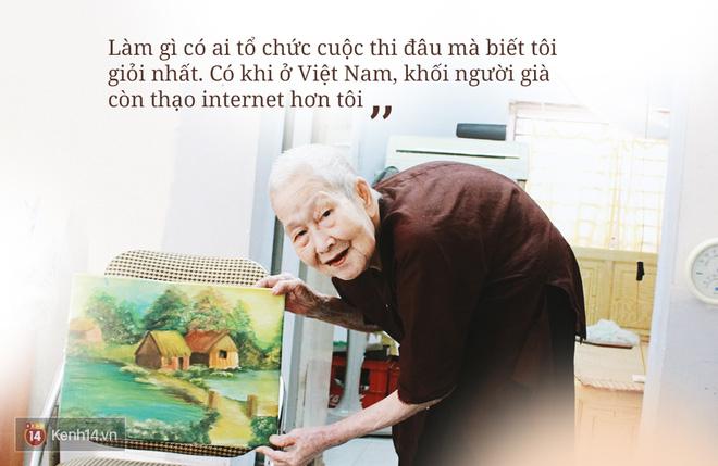Gặp cụ bà 97 tuổi được phong sành sỏi Internet nhất Việt Nam: Tôi bị ung thư 3 năm nay, nhưng còn sức thì còn học! - Ảnh 1.
