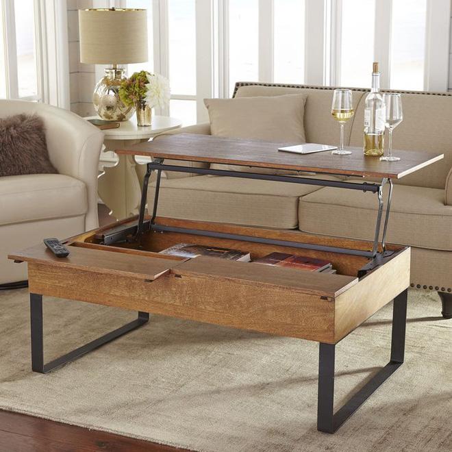 7 mẫu bàn giúp tối đa không gian lưu trữ cho nhà chật - Ảnh 6.
