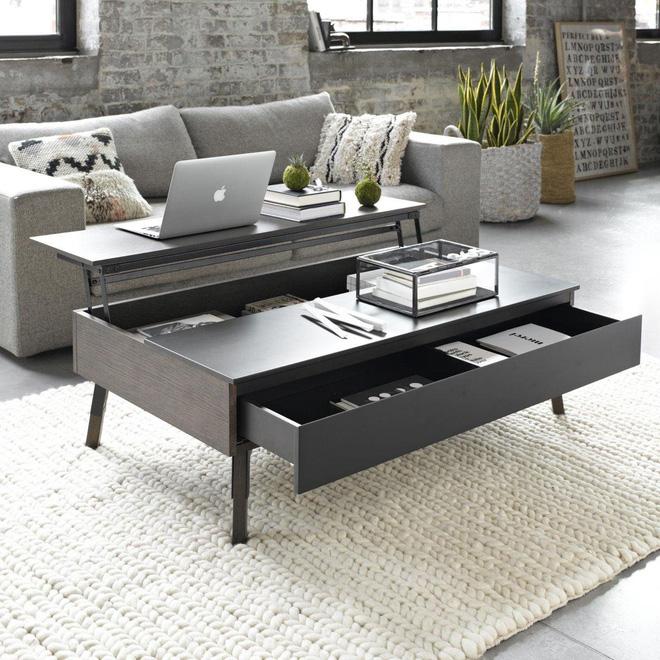 7 mẫu bàn giúp tối đa không gian lưu trữ cho nhà chật - Ảnh 7.