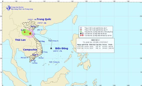 Bão số 2 gây mưa lớn và gió mạnh cho các tỉnh bắc Trung Bộ - Ảnh 1.