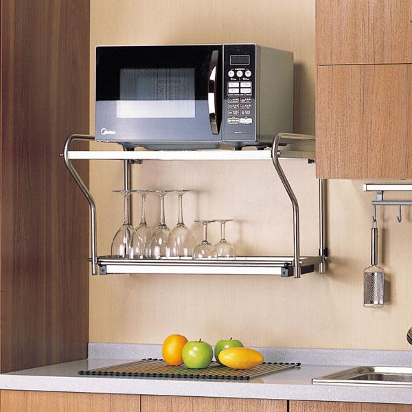 13 mẫu giá kệ để lò vi sóng tiện dụng cho nhà bếp nhỏ - Ảnh 2.