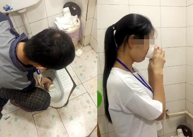 Công ty trừng phạt nhân viên bằng cách uống nước trong bồn cầu - Ảnh 1.