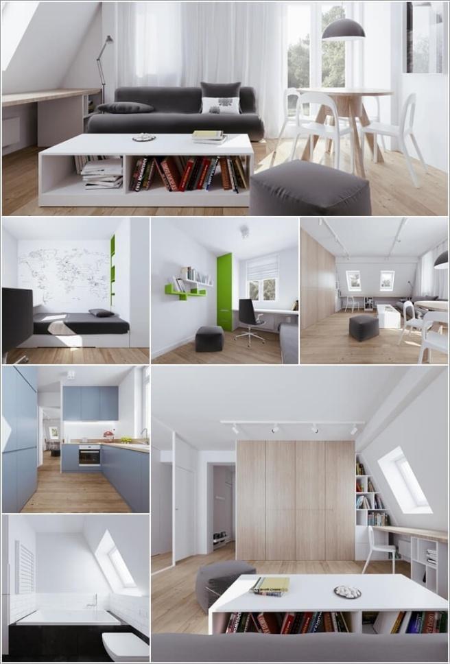 Nếu bạn đang sống trong căn hộ áp mái, đó là cơ hội tuyệt vời để trang trí thành không gian cao cấp - Ảnh 1.