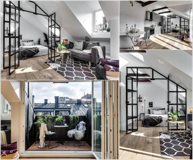 Nếu bạn đang sống trong căn hộ áp mái, đó là cơ hội tuyệt vời để trang trí thành không gian cao cấp - Ảnh 2.