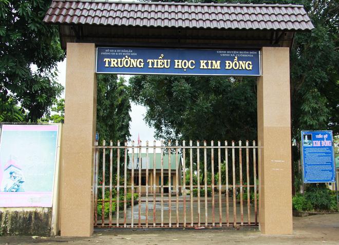 Trường tiểu học Kim Đồng, nơi ông H. đang công tác. Ảnh: Người đưa tin.