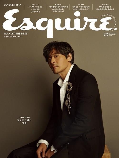 Quý ông U50 Jang Dong Gun đẹp trai bất chấp tuổi tác trên bìa tạp chí - Ảnh 2.