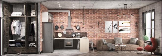 Hai căn hộ 35m² với phong cách trang trí công nghiệp nhưng lãng mạn đến khó tin - Ảnh 1.