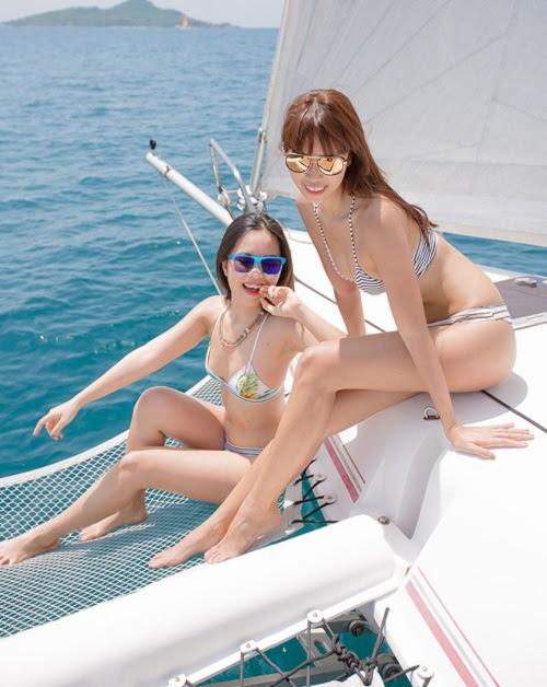 Hà My - cô em gái nóng bỏng và biết cách tận hưởng cuộc sống của siêu mẫu Hà Anh - Ảnh 1.