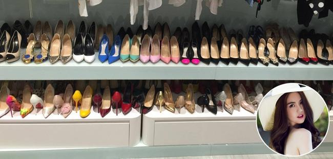 Ngọc Trinh khoe tủ giày hiệu, fan thắc mắc đến hết đời chưa mang hết giày - Ảnh 9.