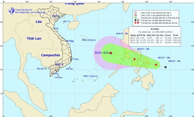 Bão Haikui sẽ đi vào Biển Đông, vùng tâm bão gió giật cấp 12 - Ảnh 1.