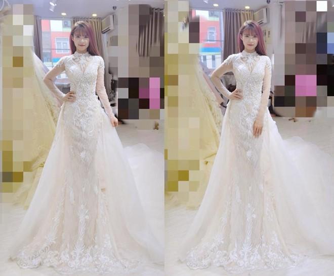 Hé lộ hình ảnh cô dâu Khởi My đi thử váy cưới đính 8.000 viên pha lê - Ảnh 1.