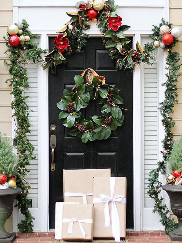 Những ý tưởng trang trí mặt tiền cho ngôi nhà đón Noel - Ảnh 3.