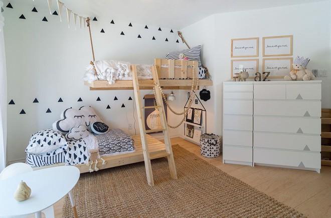 Trang trí đơn giản nhưng siêu đáng yêu, đây chính là phòng ngủ khiến mọi đứa trẻ mê tít - Ảnh 2.