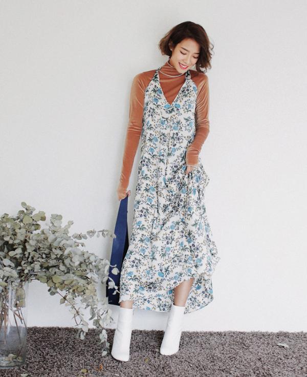 Diện váy hè mà vẫn thật ấm áp vào mùa đông với những gợi ý dưới đây - Ảnh 5.