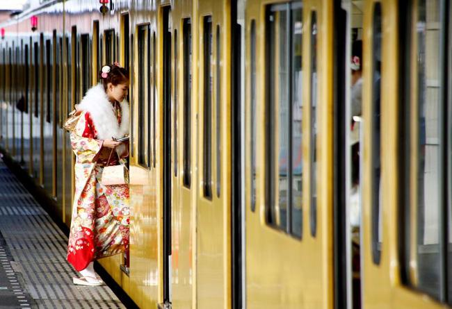 Các cô gái Nhật Bản xinh đẹp trong lễ trưởng thành - Ảnh 11.