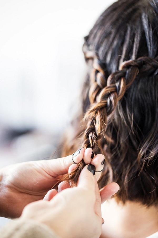 Làm điệu với 3 kiểu tết cực đơn giản dành cho các nàng tóc ngắn - Ảnh 11.
