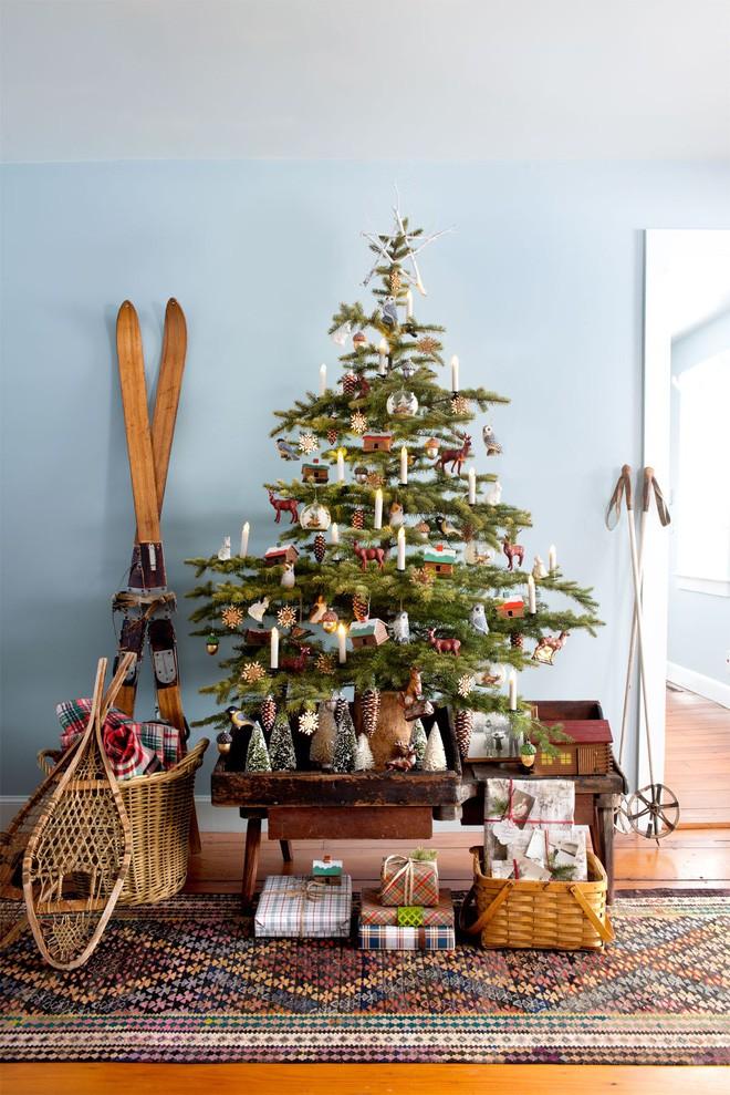 17 ý tưởng trang trí cây thông Noel mini đẹp, độc, lạ dành riêng cho nhà nhỏ  - Ảnh 11.