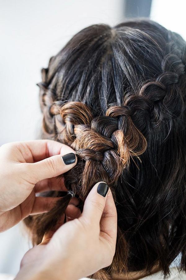 Làm điệu với 3 kiểu tết cực đơn giản dành cho các nàng tóc ngắn - Ảnh 13.