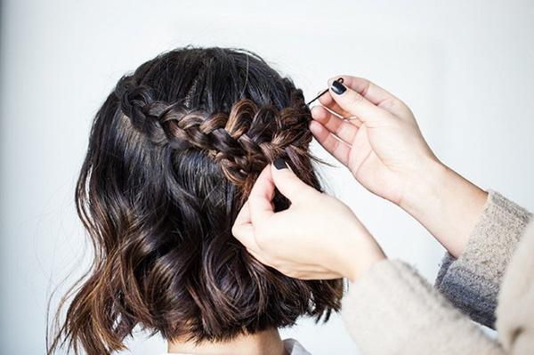Làm điệu với 3 kiểu tết cực đơn giản dành cho các nàng tóc ngắn - Ảnh 14.