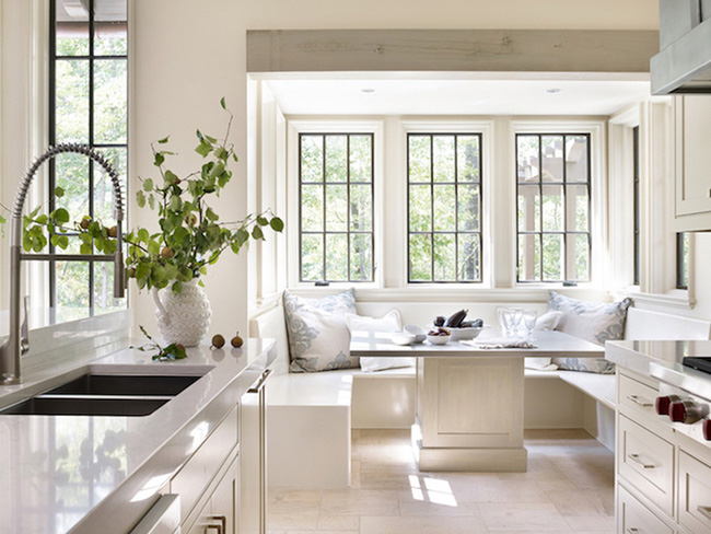 29 mẫu bàn ghế ăn khiến phòng ăn nhà bạn từ nhỏ hóa rộng thênh thang - Ảnh 15.