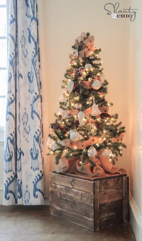 17 ý tưởng trang trí cây thông Noel mini đẹp, độc, lạ dành riêng cho nhà nhỏ  - Ảnh 14.