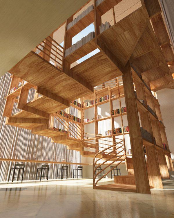 20 thiết kế giá sách kết hợp với cầu thang vô cùng đẹp mắt - Ảnh 18.