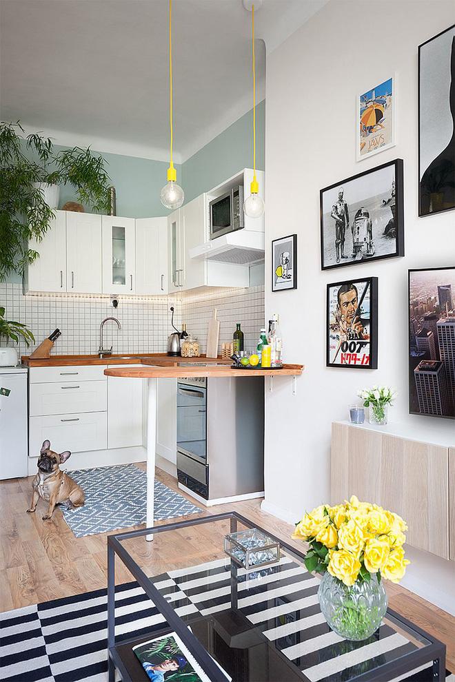 Sau cải tạo, căn hộ 45m² này đã có những bước tiến ngoạn mục về cả thẩm mỹ lẫn công năng - Ảnh 3.