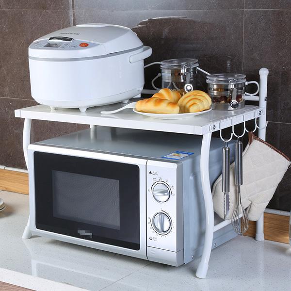 13 mẫu giá kệ để lò vi sóng tiện dụng cho nhà bếp nhỏ - Ảnh 3.