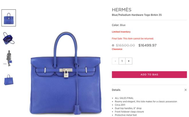 Lần đầu tiên túi Hermes Birkin và Kelly được bán giảm giá, mà lại còn giảm hẳn 0.03 USD! - Ảnh 3.