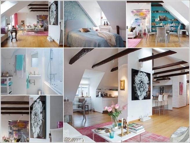 Nếu bạn đang sống trong căn hộ áp mái, đó là cơ hội tuyệt vời để trang trí thành không gian cao cấp - Ảnh 3.