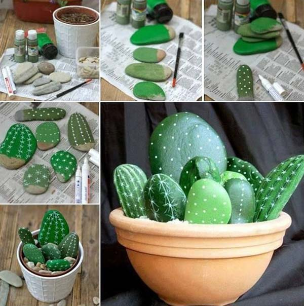 6 ý tưởng biến sỏi đá thành đồ trang trí nhà cực đẹp lại rất dễ làm - ảnh 3