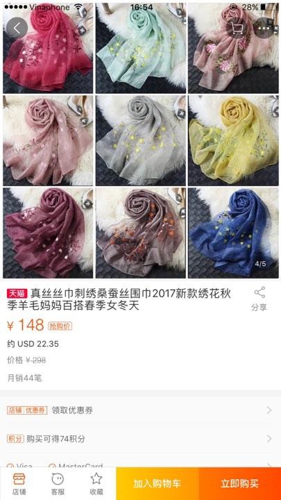 Khăn lụa Khải Silk bán hàng triệu đồng, mẫu tương tự bên Trung Quốc chỉ bằng 1/10 mức giá - Ảnh 3.