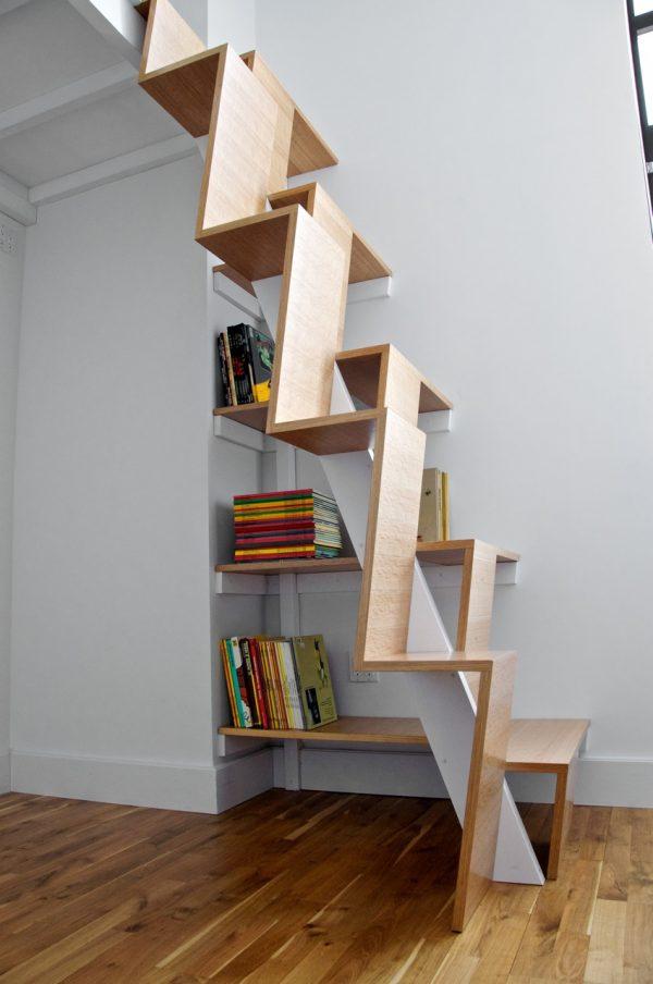 20 thiết kế giá sách kết hợp với cầu thang vô cùng đẹp mắt - Ảnh 4.