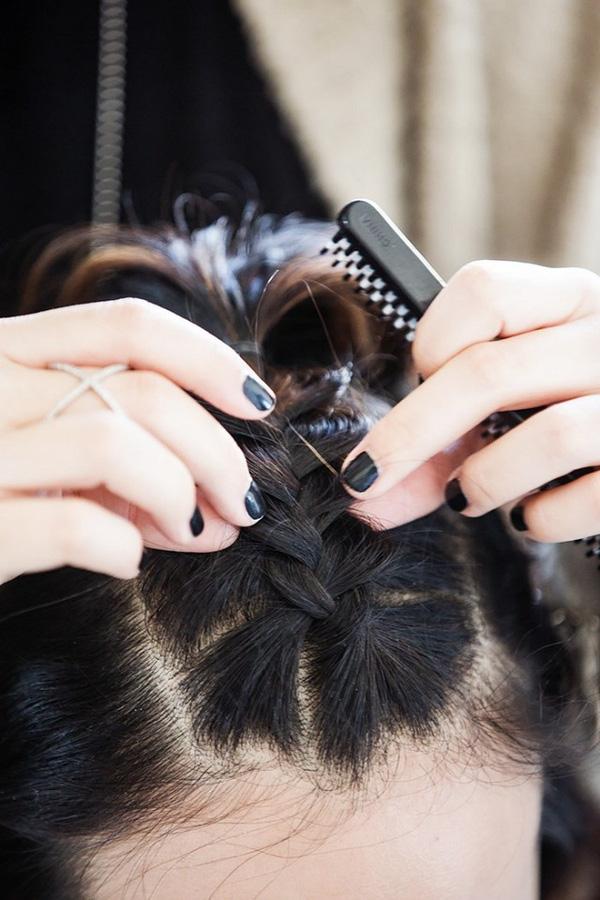 Làm điệu với 3 kiểu tết cực đơn giản dành cho các nàng tóc ngắn - Ảnh 4.
