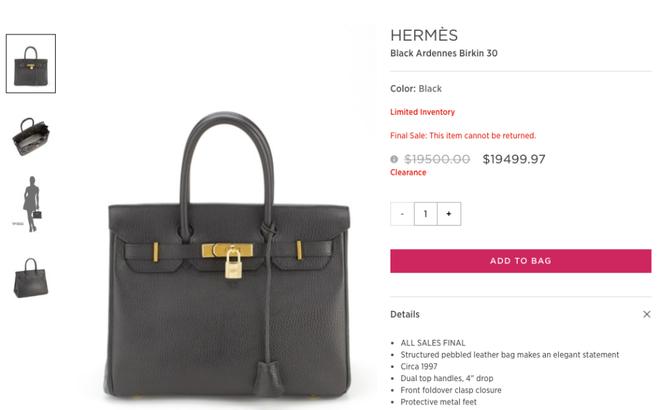 Lần đầu tiên túi Hermes Birkin và Kelly được bán giảm giá, mà lại còn giảm hẳn 0.03 USD! - Ảnh 4.