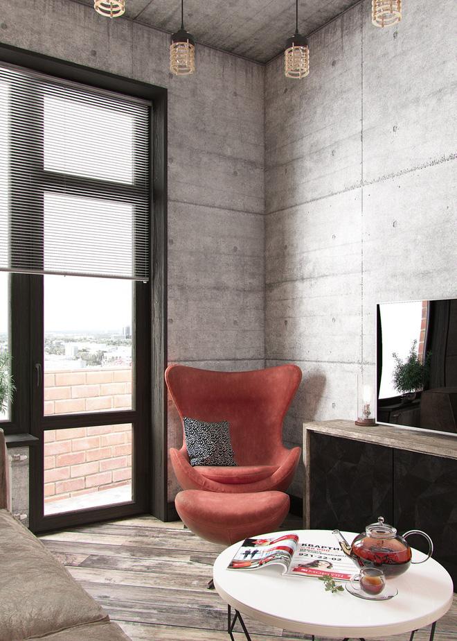 Hai căn hộ 35m² với phong cách trang trí công nghiệp nhưng lãng mạn đến khó tin - Ảnh 4.