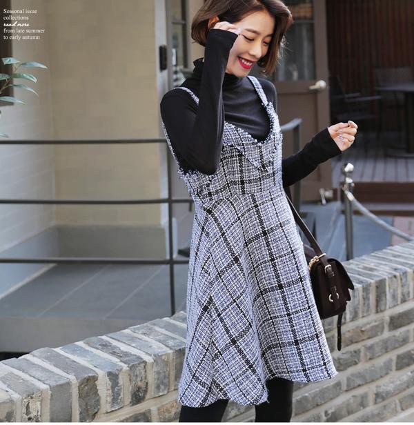 Tận dụng váy hè mà vẫn diện ấm áp trong mùa đông với những gợi ý sau - Ảnh 9.